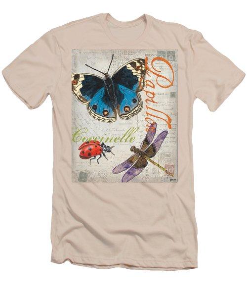 Grey Postcard Butterflies 4 Men's T-Shirt (Athletic Fit)