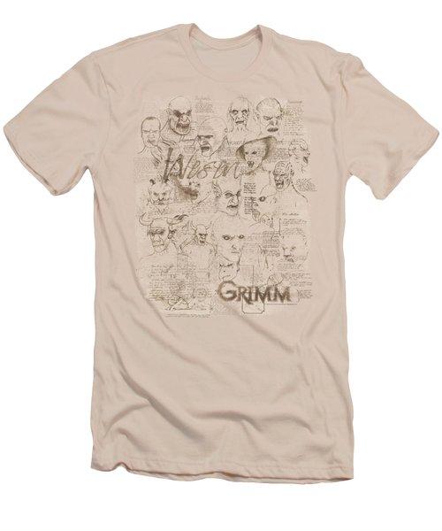 Grimm - Wesen Sketches Men's T-Shirt (Athletic Fit)