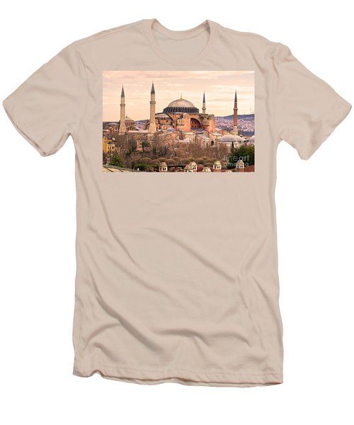 Hagia Sophia Mosque - Istanbul Men's T-Shirt (Slim Fit) by Luciano Mortula