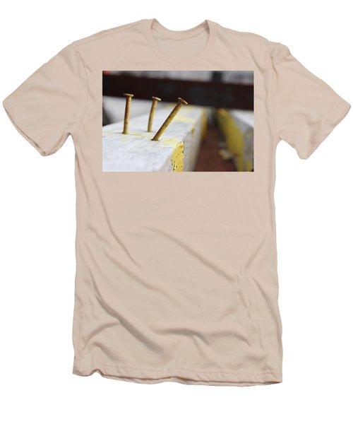 Hammer And Nail Men's T-Shirt (Slim Fit) by Tiffany Erdman