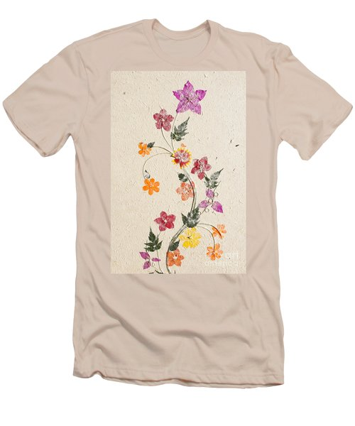 Men's T-Shirt (Slim Fit) featuring the photograph handmade paper from Madagascar 3 by Rudi Prott