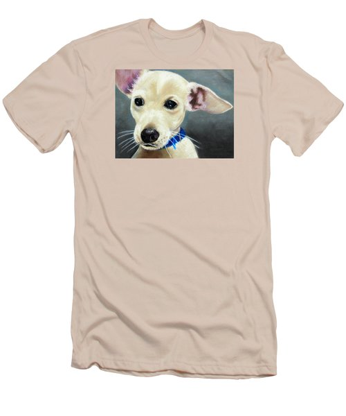 Men's T-Shirt (Slim Fit) featuring the painting Hank by Jeanne Fischer