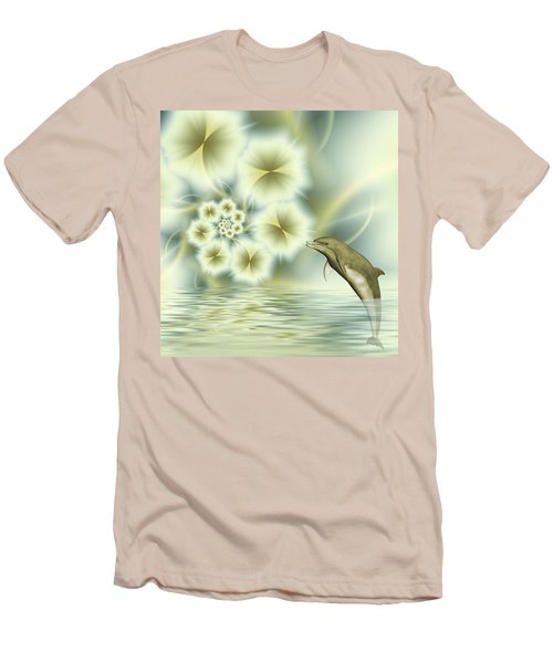 Happy Dolphin In A Surreal World Men's T-Shirt (Athletic Fit)