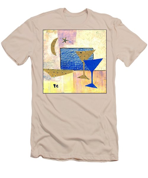 Happy Hour Men's T-Shirt (Slim Fit) by Patricia Cleasby