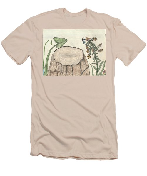 Men's T-Shirt (Slim Fit) featuring the painting Harvested Beauty by Kim Pate