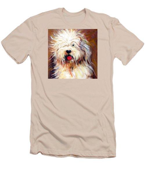 Harvey The Sheepdog Men's T-Shirt (Slim Fit) by Rebecca Korpita
