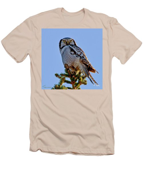 Hawk Owl Square Men's T-Shirt (Athletic Fit)