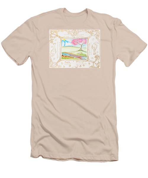 Men's T-Shirt (Slim Fit) featuring the painting He Restores My Soul by Cassie Sears