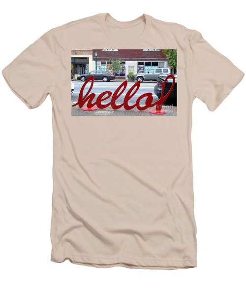 Men's T-Shirt (Slim Fit) featuring the photograph Hello by Kelly Awad