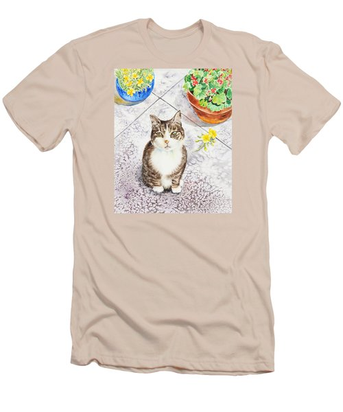 Here Kitty Kitty Kitty Men's T-Shirt (Athletic Fit)