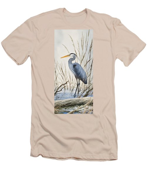 Herons Natural World Men's T-Shirt (Slim Fit) by James Williamson