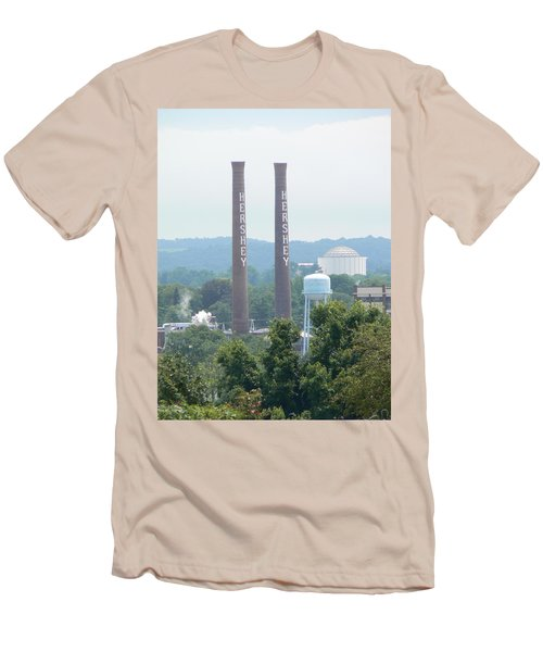 Hershey Smoke Stacks Men's T-Shirt (Slim Fit) by Michael Porchik