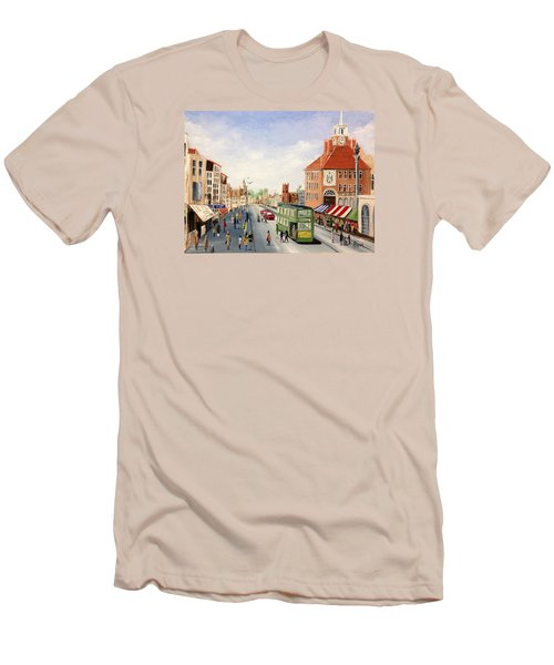 High Street Men's T-Shirt (Slim Fit) by Helen Syron