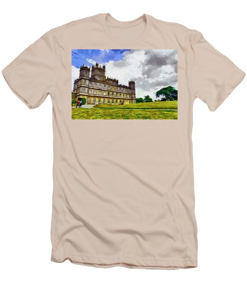 Men's T-Shirt (Slim Fit) featuring the painting Highclere Castle by Georgi Dimitrov