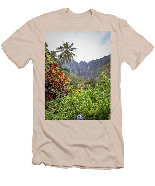 Hiilawe And Hakalaoa Falls Men's T-Shirt (Athletic Fit)
