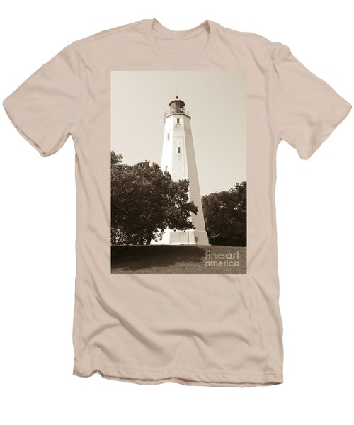 Historic Sandy Hook Lighthouse Men's T-Shirt (Slim Fit) by Anthony Sacco