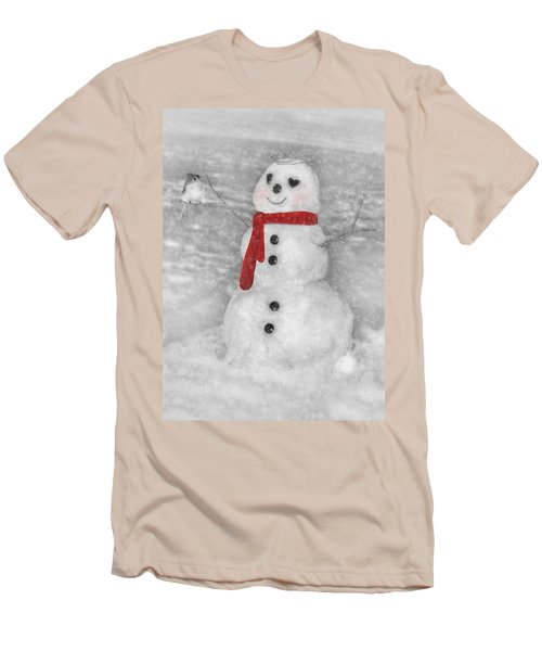 Holiday Snowman Men's T-Shirt (Athletic Fit)