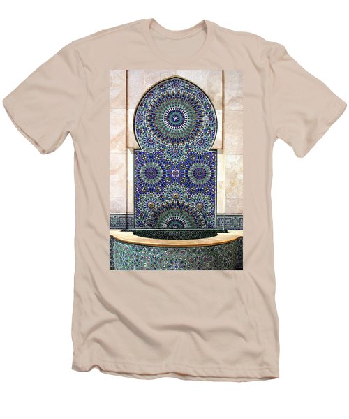 Holy Water Fountain Hassan II Mosque Sour Jdid Casablanca Morocco  Men's T-Shirt (Athletic Fit)