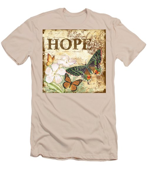 Hope And Butterflies Men's T-Shirt (Slim Fit) by Jean Plout