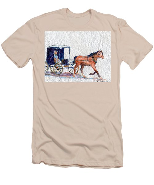 Horse And Buggy Men's T-Shirt (Slim Fit) by Mary Haley-Rocks
