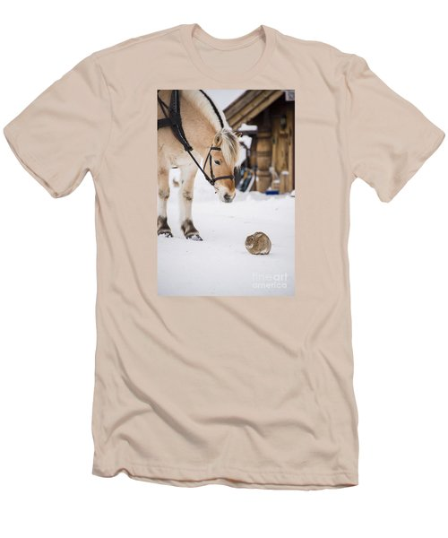 Horse And Rabbit Men's T-Shirt (Athletic Fit)