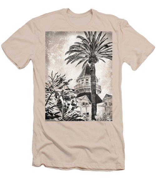 Hotel Del Coronado Men's T-Shirt (Slim Fit) by Peggy Hughes