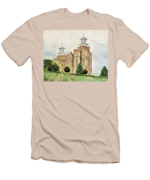 Men's T-Shirt (Slim Fit) featuring the painting House Of Defense by Greg Collins