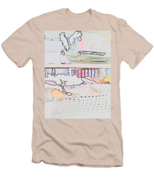 Men's T-Shirt (Slim Fit) featuring the photograph Human Technology by Fortunate Findings Shirley Dickerson