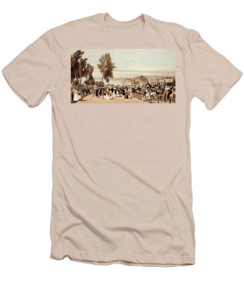 Hyde Park, Towards The Grosvenor Gate Men's T-Shirt (Athletic Fit)
