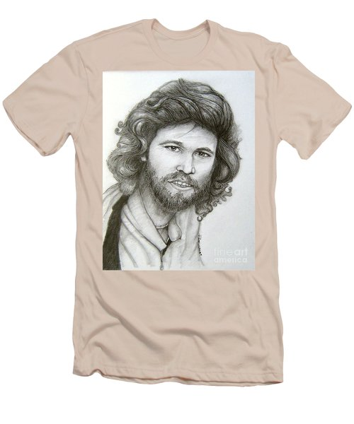 Men's T-Shirt (Slim Fit) featuring the drawing Barry Gibb by Patrice Torrillo