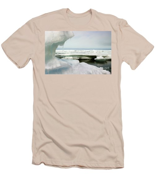 Men's T-Shirt (Slim Fit) featuring the photograph Ice Barrow Alaska July 1969 By Mr. Pat Hathaway by California Views Mr Pat Hathaway Archives