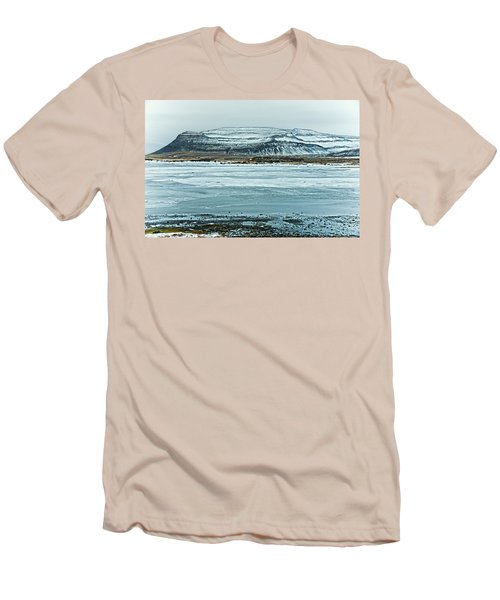 Icelandic Winter Landscape Men's T-Shirt (Athletic Fit)