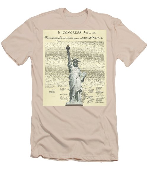 Icon Of Freedom Men's T-Shirt (Slim Fit) by Charles Beeler