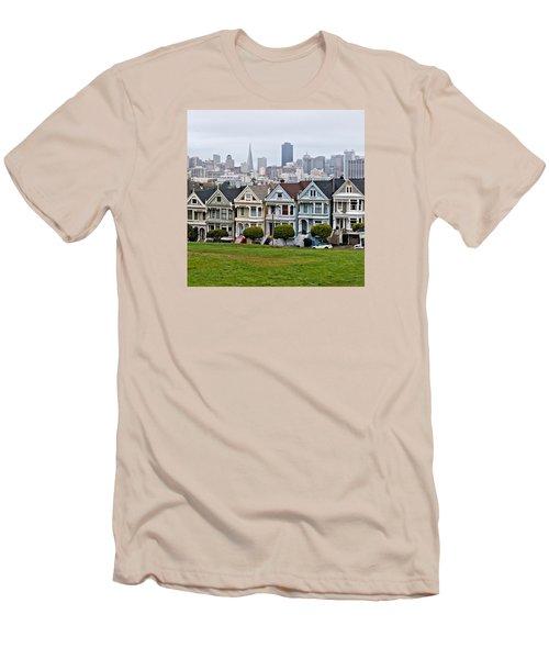 Iconic Painted Ladies Men's T-Shirt (Athletic Fit)