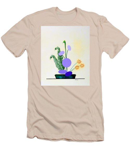 Ikebana #2 Green Pot Men's T-Shirt (Slim Fit) by Thomas Gronowski