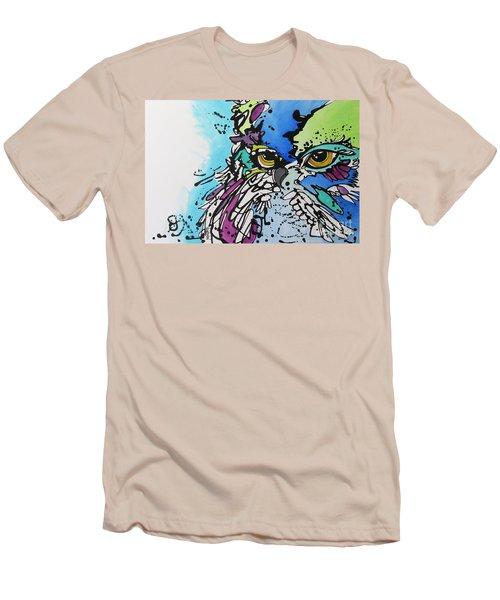 Men's T-Shirt (Slim Fit) featuring the painting Immutable by Nicole Gaitan