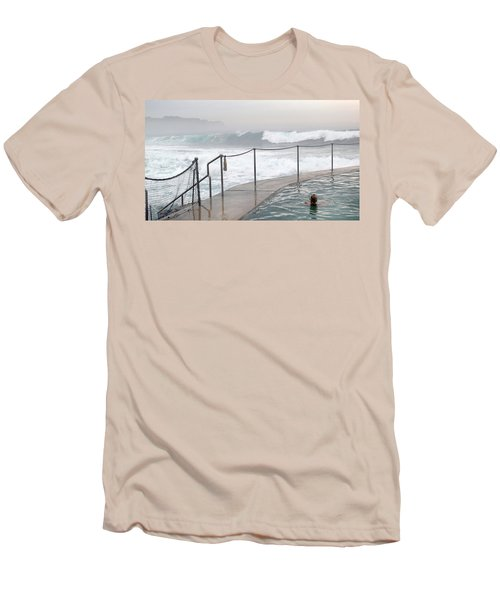 In Safe Waters Men's T-Shirt (Slim Fit) by Evelyn Tambour