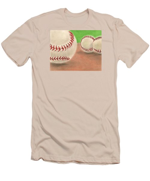 Men's T-Shirt (Slim Fit) featuring the drawing In The Dirt by Troy Levesque