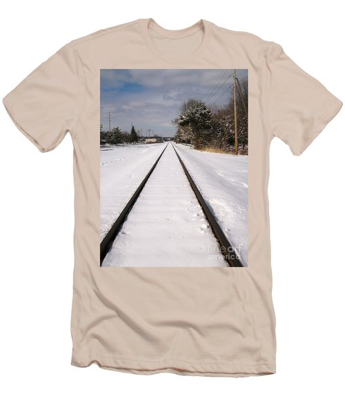 Men's T-Shirt (Slim Fit) featuring the photograph In The Distance by Sara  Raber