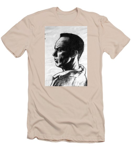 Men's T-Shirt (Slim Fit) featuring the painting Michael Keaton by Salman Ravish