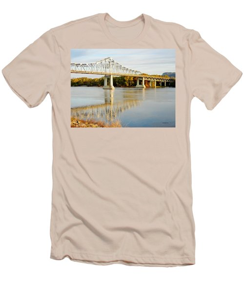 Interstate Bridge In Winona Men's T-Shirt (Athletic Fit)
