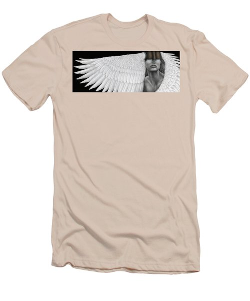 Men's T-Shirt (Slim Fit) featuring the painting Inward Flight by Pat Erickson