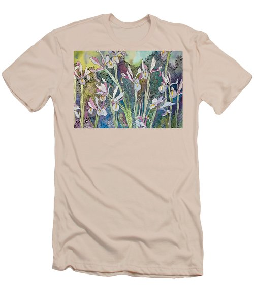 Irises And Doodles Men's T-Shirt (Athletic Fit)