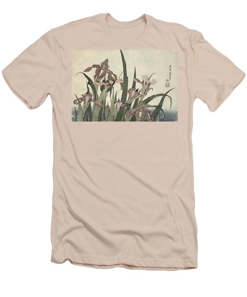 Irises And Grasshopper Men's T-Shirt (Athletic Fit)