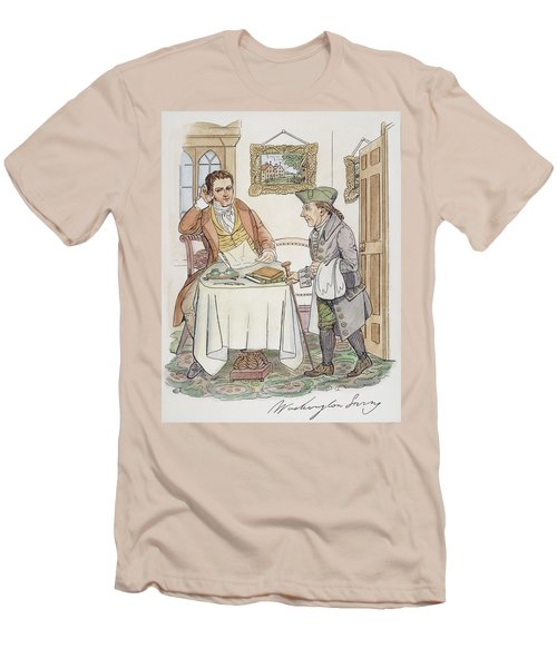 Men's T-Shirt (Slim Fit) featuring the painting Irving & Knickerbocker by Granger