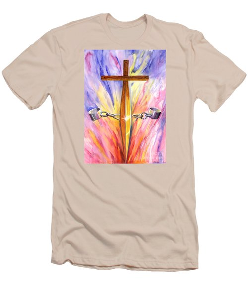 Isaiah Sixty One Verse One Men's T-Shirt (Slim Fit) by Nancy Cupp