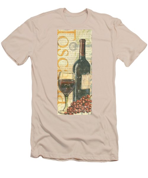 Italian Wine And Grapes Men's T-Shirt (Athletic Fit)