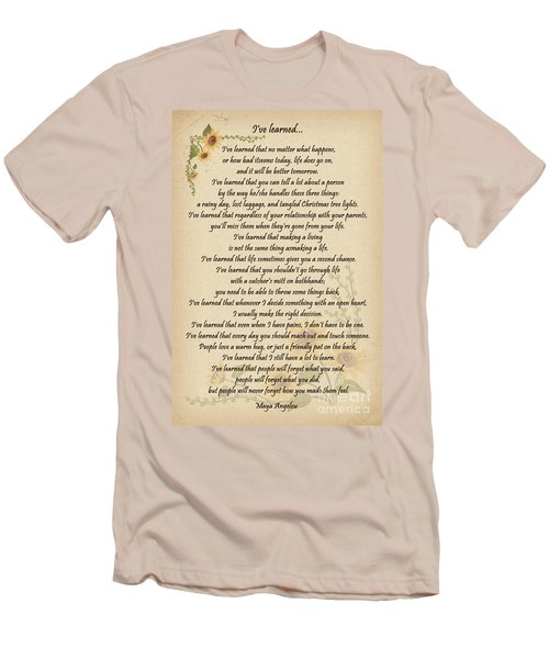 I've Learned Men's T-Shirt (Slim Fit) by Olga Hamilton