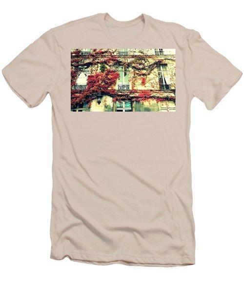 Ivy Growing On A Wall   Men's T-Shirt (Slim Fit) by Richard Rosenshein