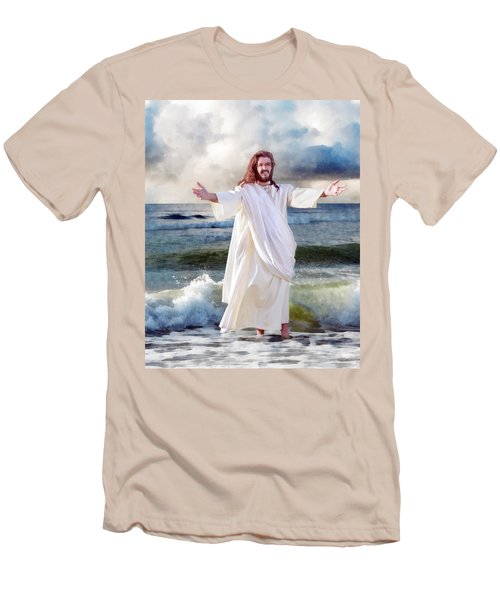Jesus On The Sea Men's T-Shirt (Athletic Fit)